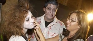 Experienced actors play undead in haunted houses