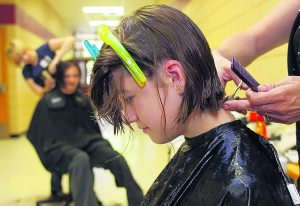 E.V. students donate hair to cancer patients