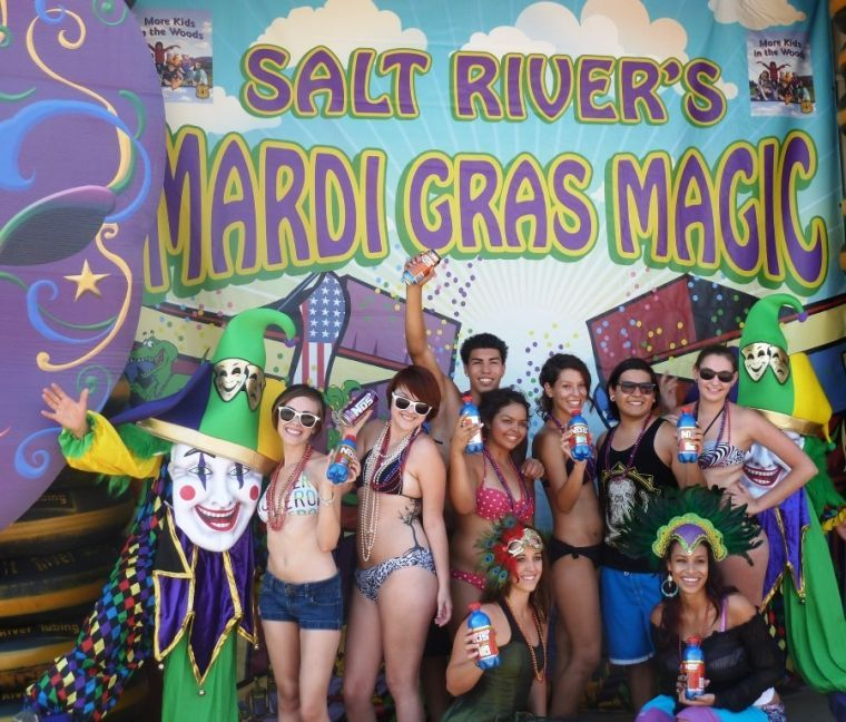 Salt River Tubing's Mardi Gras Magic