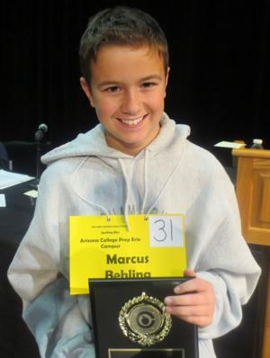 Marcus Behling-CUSD spelling bee champ