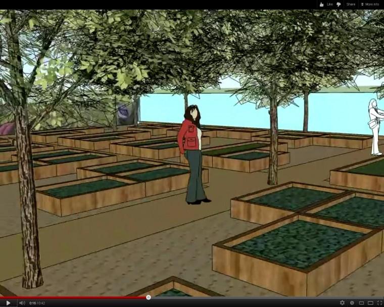 Mesa Urban Garden artists rendering