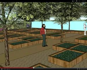 Mesa Urban Garden artists rendering