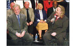 Bush's Mesa visit highlights high-tech