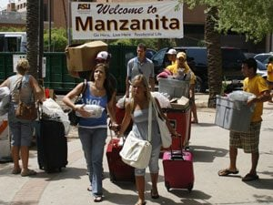 ASU dorm residents track neighbors with social sites