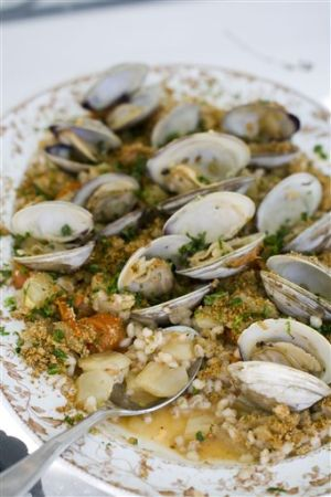 Food Healthy Barley With Clam Sauce