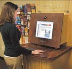 Kiosk gives tourists information, services