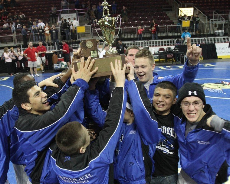 Chandler wins Div. I wrestling team championship