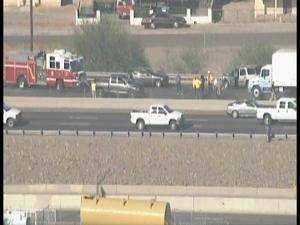 Big back-ups in multi-vehicle Phoenix crash