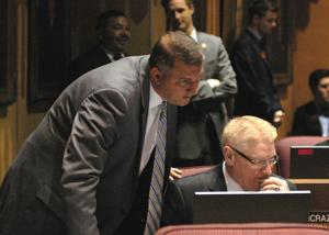 Sens. Rich Crandall and Bob Worsley