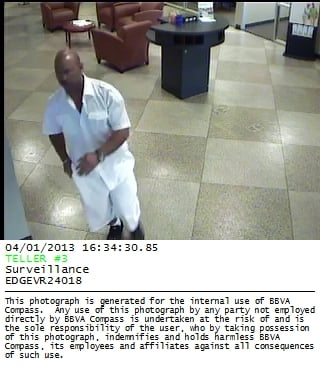 Chandler bank robbery suspect