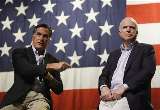 John McCain, Mitt Romney