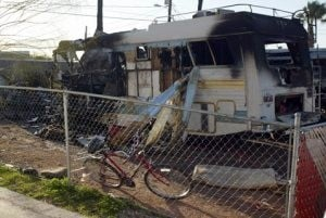 1 dead after A.J. mobile home burns down