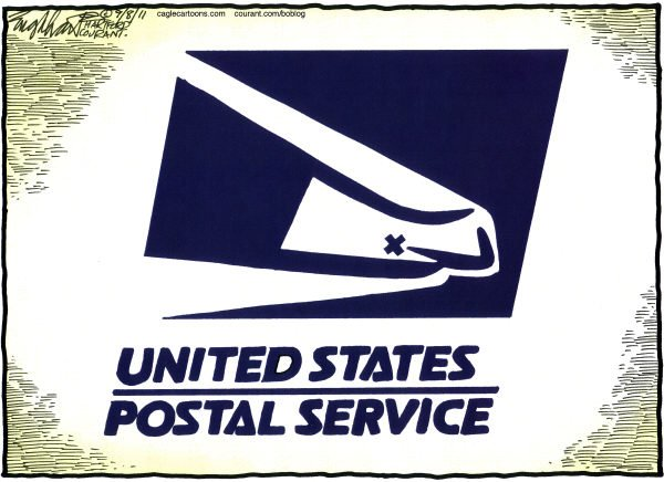 Cartoon: Post Office in trouble
