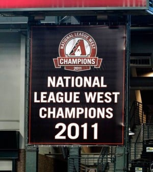 Arizona Diamondbacks championship banner
