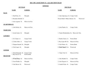 Division II, Section 6 All-Section football team
