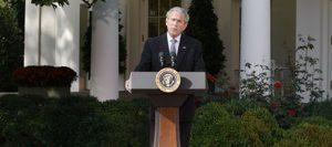 Bush says anxiety feeding market instability