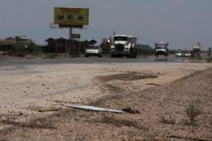 Monsoon pummels Pinal roads, but not like in '06