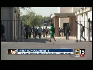 Police have made 1,600 arrests at Mesa schools since 2009