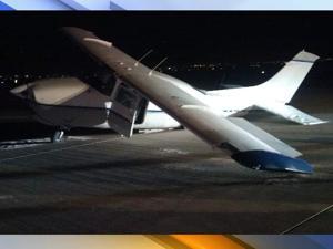 Troubled landing in Mesa
