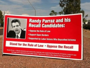 Pearce recall sign