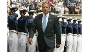 Bush likens war against terrorism to WWII