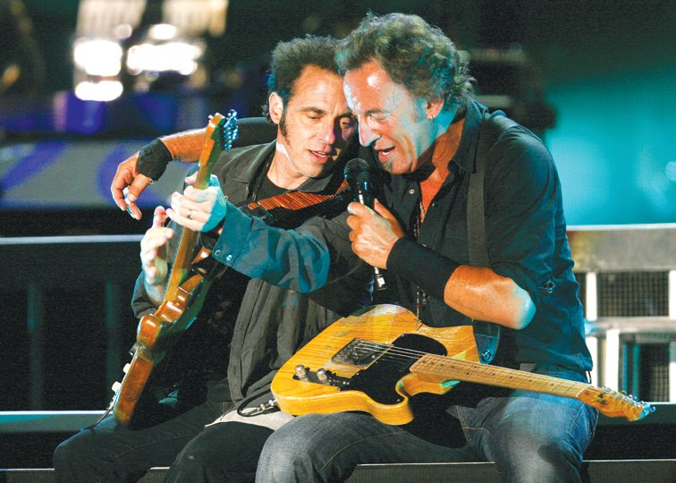 Nils Lofgren with Bruce Springsteen