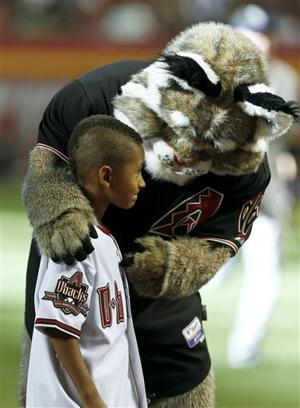 Arizona Diamondbacks' D. Baxter the Bobcat