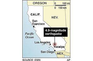 Moderate quake shakes Southern California