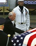 Tens of thousands view Reagan's casket