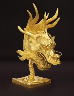 <p>Ai Weiwei. <em>Dragon</em>. 2010. Gold-plated cast bronze. Image courtesy of Ai Weiwei. The dragon head is one of the missing zodiac heads from the Old Summer Palace. Ai Weiwei used his imagination to construct what it could have possibly looked like. </p>