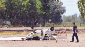 1 dead in small-plane collision over Coolidge