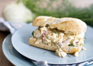 Fennel egg salad sandwich