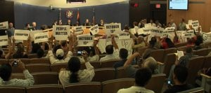 Protester arrested at county supervisors meeting