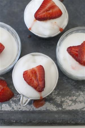 Food Healthy Snow Pudding