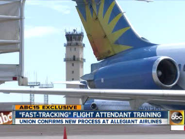 Allegiant trains employees to be fill-in flight attendants