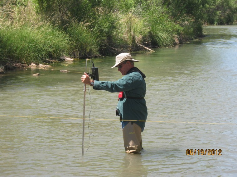 Water flow measurement in Verde River