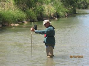 Water flow measurement in Verde River