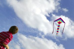 Fly a kite in Flagstaff