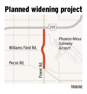 Widening planned for Power Road stretch