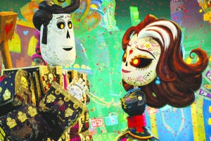 "<p>This image released by Twentieth Century Fox shows the characters Manolo, voiced by Diego Luna, left, and Carmen Sanchez, voiced by Ana de la Reguera in a scene from ""The Book of Life.""</p>"