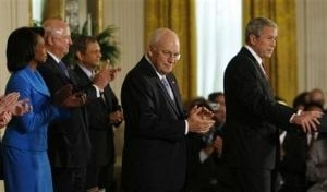 Cheney experiences abnormal heart rhythm