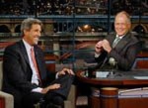 Kerry does 'Top Ten' on Letterman show
