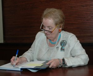 Albright defends Obama's Nobel Peace Prize