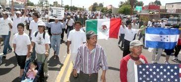 Thousands protest immigration reform plans