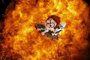 "<p>This image released by DreamWorks Animation shows Sherman, voiced by Max Charles, left, and Mr. Peabody, voiced by Ty Burell, in a scene from ""Mr Peabody & Sherman."" (AP Photo/ DreamWorks Animation)</p>"