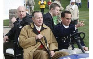 Former President Bush attends FBR Open