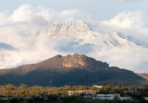 Snow near Apache Junction