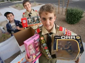 Toys for needy is Scout's Eagle project