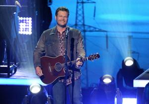 <p>Blake Shelton performs at the iHeartRadio Music Awards at the Shrine Auditorium on Thursday, May 1, 2014, in Los Angeles.</p>