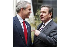 Bush, Schroeder demand Iran end nuke quest